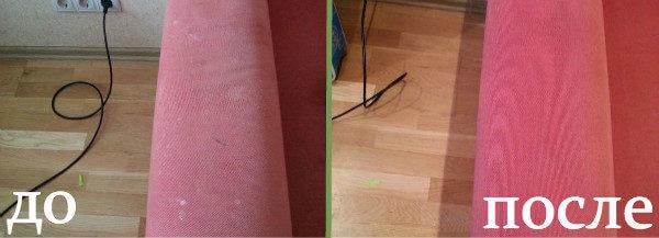 Химчистка мебели до после