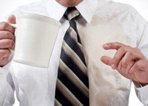 Rак вывести пятна от чая с одежды