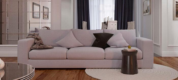 чистка белого дивана